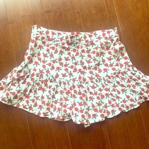 Zara skort, red rose print
